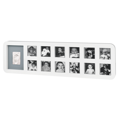 First Year Print Frame White And Grey