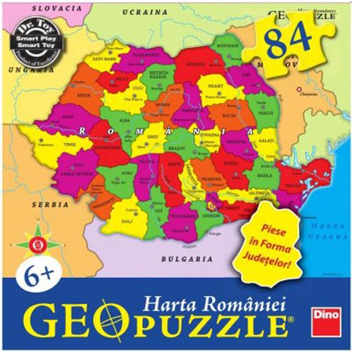 Puzzle Geografic Harta Romaniei