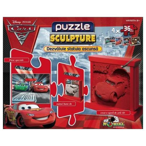 Puzzle Sculpture Cars
