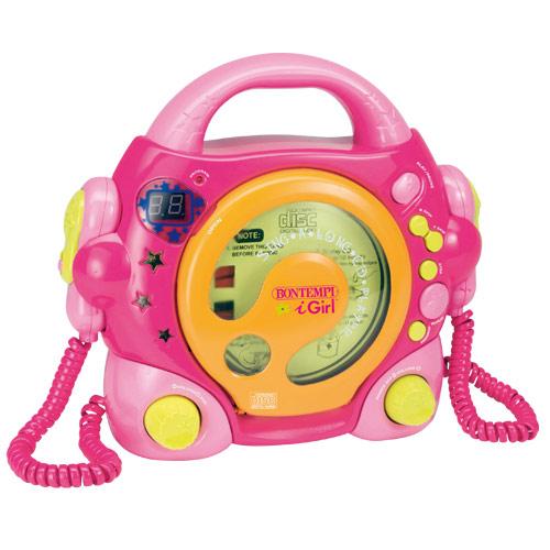 Jucarie CD Player cu 2 Microfoane Singalong