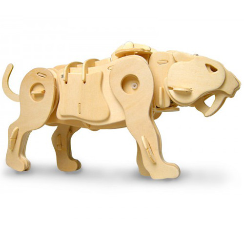Puzzle 3D Saber Tooth-Head