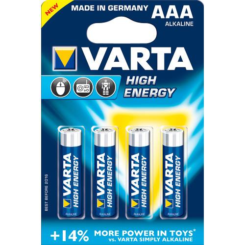 Set 4 Baterii AAA High Energy