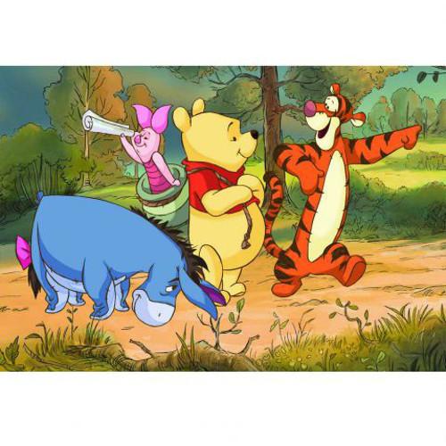 Puzzle Ursuletul Winnie in Drumetie 24 Piese