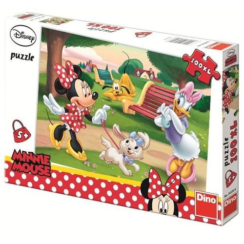 Puzzle Minnie la Plimbare 100 Piese