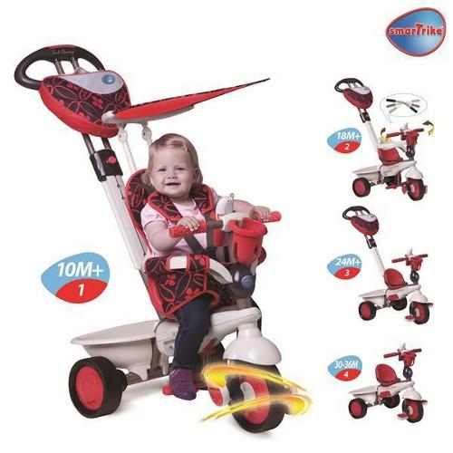Tricicleta 4 in 1 Dream Red