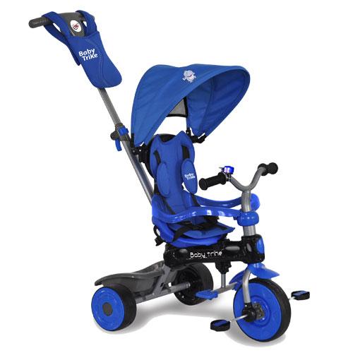 Tricicleta 4 in 1 Hippo Blue