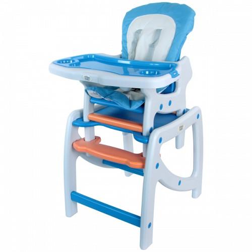 Scaun Masa Multifunctional Albastru cu Alb
