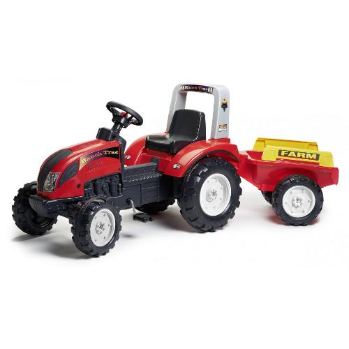 Tractor Ranch Rosu cu Remorca
