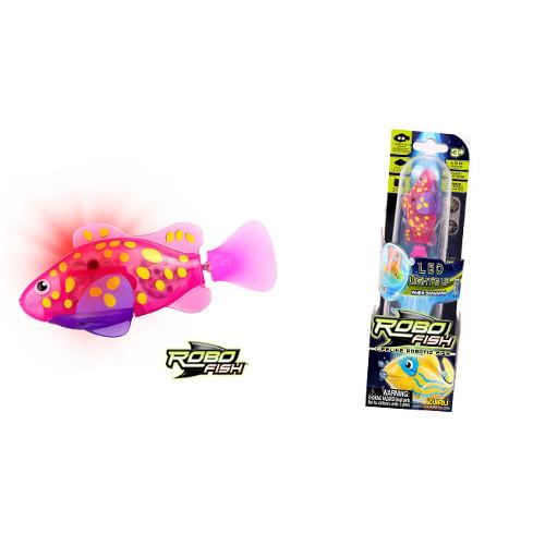 RoboFish Pestisor cu LED Roz