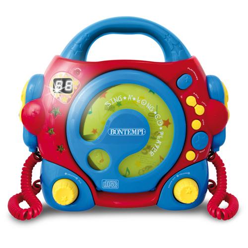 CD Player Portabil cu 2 Microfoane