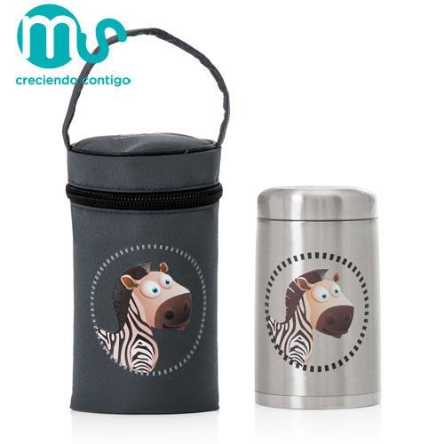 Termos Mancare Solida 750ml cu Gentuta Silver