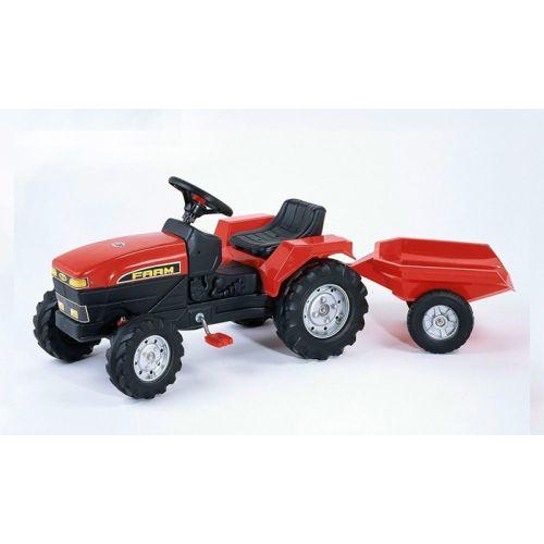 Poza Tractor cu Pedale Farm Rosu