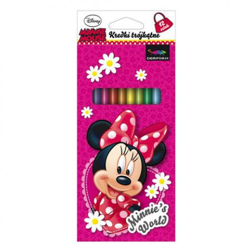 Set 12 Creioane Colorate Minnie Mouse