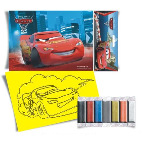 Plansa Pictura cu Nisip Lightning McQueen 23 cm