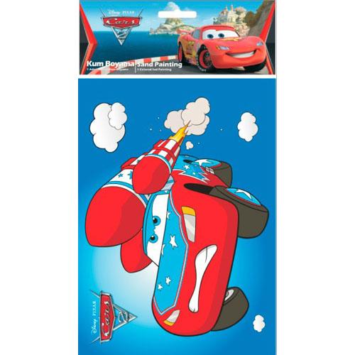 Plansa Pictura cu Nisip Cars McQueen cu Racheta 47 cm