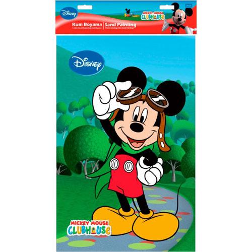 Plansa Pictura cu Nisip Mickey Mouse cu Ochelari 47 cm