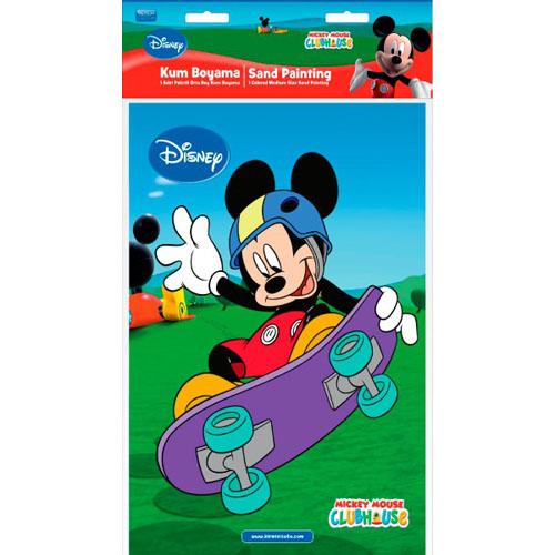 Plansa Pictura cu Nisip Mickey Mouse Skateboard 33 cm