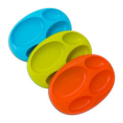 Platter - Set de 3 Farfurii Compartimentate Antiderapante