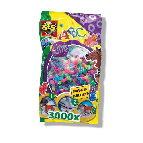 Margele Iron on Beads cu Sclipici 3000