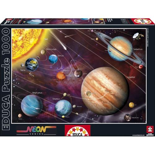 Puzzle 1000 Piese - Sistemul Solar