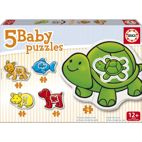 Puzzle Bebe cu Animale de Ferma