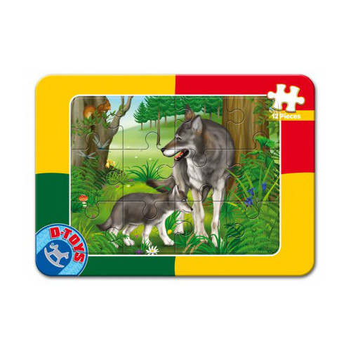 Puzzle Mini Plan 12 Piese Lupi