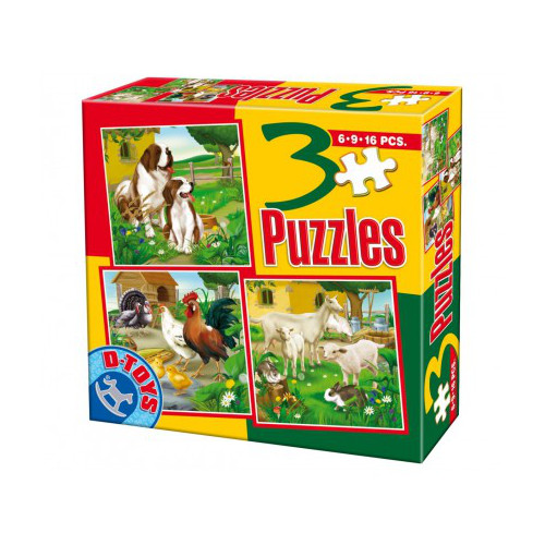 Puzzle 3 Progresiv Animale Domestice 1