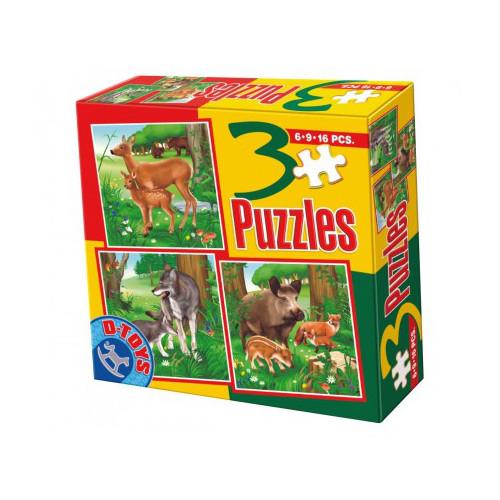 Puzzle 3 Progresiv Animale Salbatice