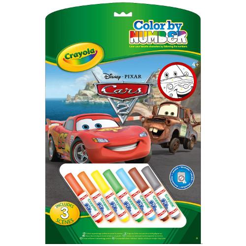 Set Coloreaza dupa Numere Cars