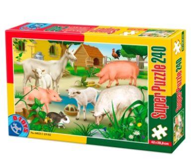 Super Puzzle 240 Piese Animale Domestice