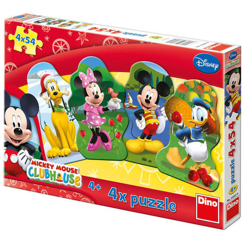 Puzzle 4 in 1 - Clubul lui Mickey Mouse