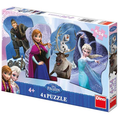 Puzzle 4 in 1 - Frozen - Regatul de Gheata