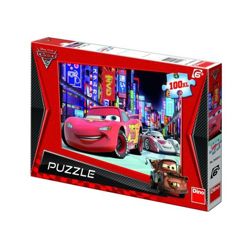 Puzzle Cars - Lightning McQueen in Tokyo - 100 Piese