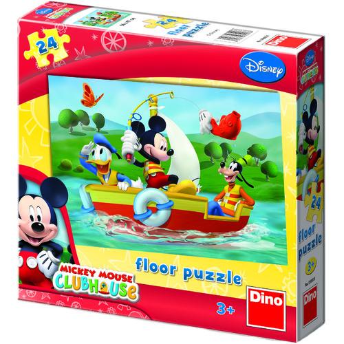 Puzzle de Podea - Mickey Mouse la Pescuit