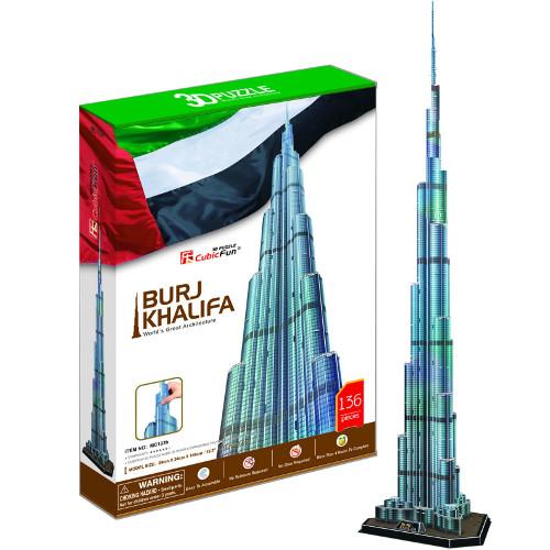 Puzzle 3D Burj Khalifa 136 Piese