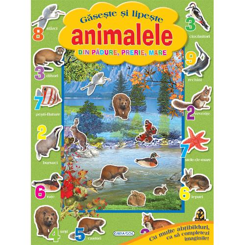 Poza Gaseste si Lipeste Animalele din Padure, Prerie, Mare