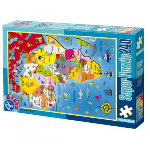 Super Puzzle 240 Piese Harta Africii
