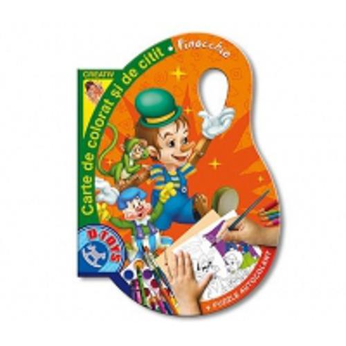 Carte de Colorat si Citit Pinochio