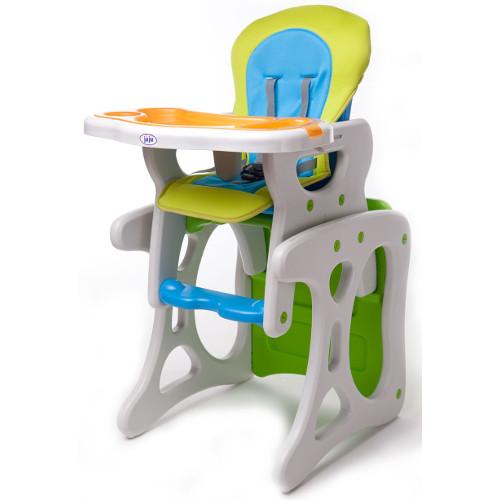 Scaun de Masa Eat and Play Verde - Albastru