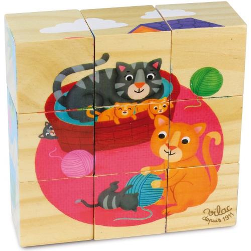 9 Cuburi lemn Melusine