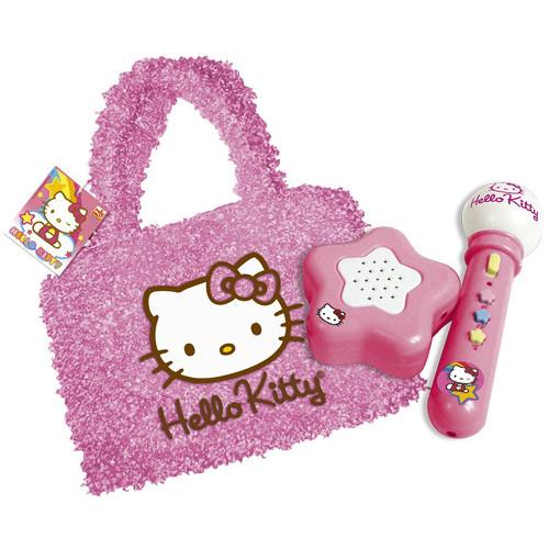 Geanta cu Amplificator si Microfon Hello Kitty