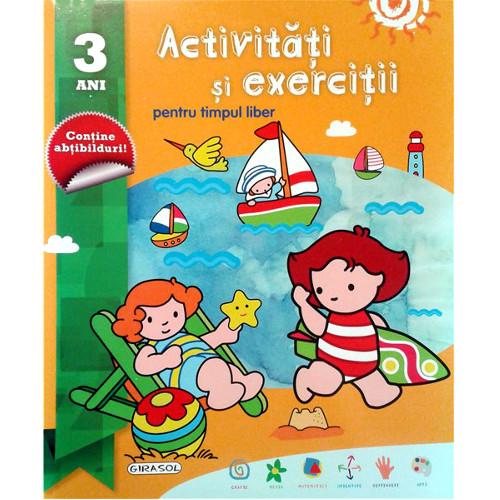 Activitati si Exercitii pentru Timpul Liber 3 Ani