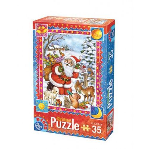 Puzzle Craciun cu 35 Piese Model 3
