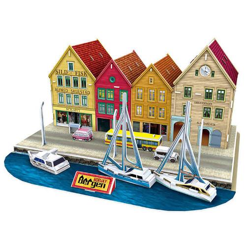 Puzzle 3D Bergen Norvegia