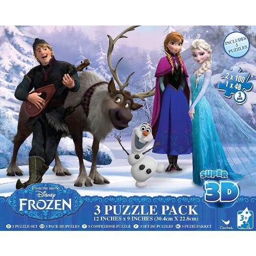 Puzzle 3D - Set 3 Jocuri Frozen