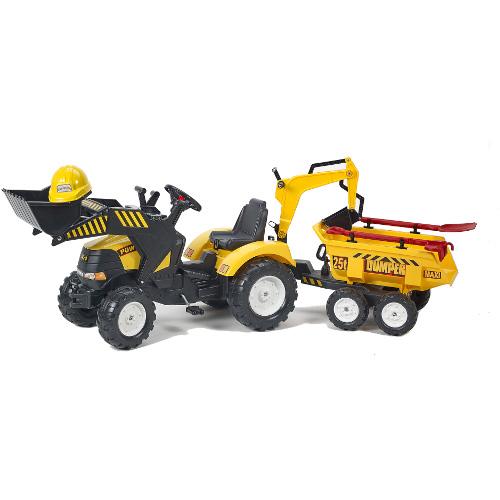 Tractor Powerloader cu Cupa, Remorca si Accesorii