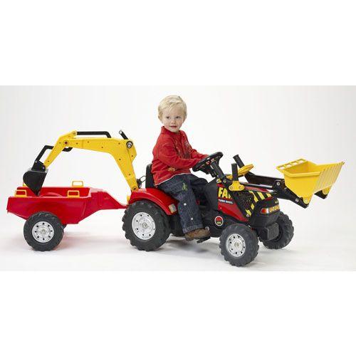 Tractor cu Remorca si Excavator