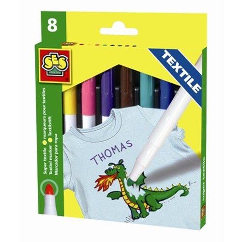 Set Markere 8 Culori Textile