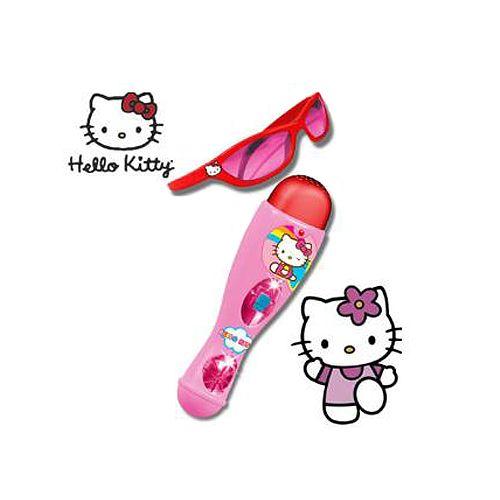 Poza Set Microfon si Ochelari Hello Kitty