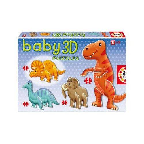 Puzzle Dinosauri 3D Baby cu 14 Piese
